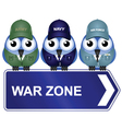 WAR ZONE SIGN vector image vector image