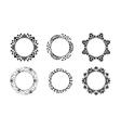 Black ethnic ornamental frames set vector image