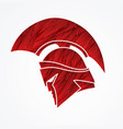 spartan warrior helmet weapon head roman fighter vector image