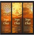 yoga banner set with mandala vector image