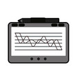tablet with graph on screen icon image vector image