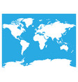 map of world white silhouette high vector image