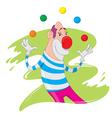 Clown juggling vector image