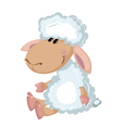 sheep sits vector image vector image