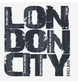 London city Typography design vector image