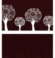 hand tree invitation vector image vector image