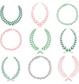 Hand Drawn Laurel Wreaths Collections vector image vector image