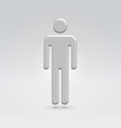 Silver male person icon vector