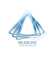 Abstract blue triangles shapes corporate logo vector image