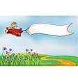 Airplane banner vector image