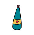 bottle of champagne cartoon icon vector image