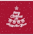 Christmas Sticker Fir vector image