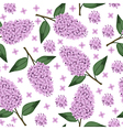 lilac pattern vector image