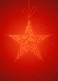 Vintage star on red background vector image