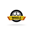 Wheel store logo vector image