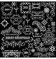 vintage holiday floral design elements vector image vector image