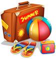 A beach summer outing vector image