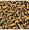 Yellow floral seamless pattern in baroque style vector image