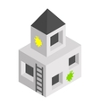 Strengthening paintball isometric 3d icon vector image