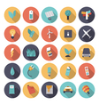 icons flat colors energy vector image vector image