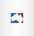 australia logo map icon vector image