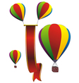 balloons two vector image vector image