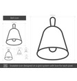 bell line icon vector image