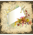 Floral with shopping tag vector image