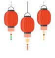 lantern icon chinese or japanese red lantern vector image