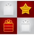 Set of shelves vector image