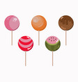 sweet candy lollipops set berry and chocolate vector image