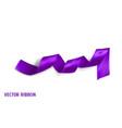 violet realistic silk ribbon vector image