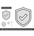 Data security line icon vector image
