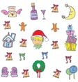 Object christmas set doodles vector image