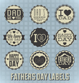Happy Fathers Day Labels vector image