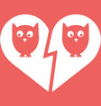 owl family divorce icon vector image