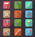 Hardware Tools Flat Icon Long Shadow vector image vector image