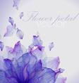 Watercolor card with Purple flower petal vector image
