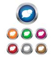 conversation buttons vector image