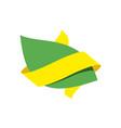 green leaf bio emblem sign for natural product vector image