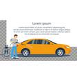 Man washing car vector image