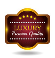Premium quality label design vector image