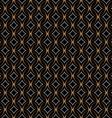 Retro seamless pattern with circles on black vector image