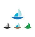 Sailing object symbol vector image