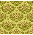 Spring bird flower heart seamless pattern vector image