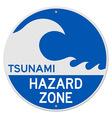Tsunami Hazard Zone vector image