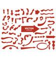 set of cartoon arrows hand drawn design elements vector image vector image