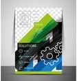 CMYK Business Corporate Flyer Template vector image vector image