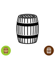 Barrel symbol vector image