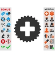 Health Care Stamp Icon vector image